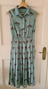 Sugarhill Boutique Blue Button-Front Donkey Midaxi Dress - UK 8
