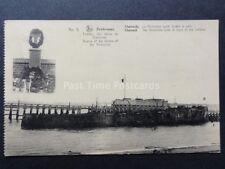 WW1 Belgium Ruines de ZEEBRUGGE No.9 1914-18 H.M.S. Vindictive Sunk near Harbour
