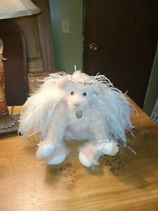 "Annette Funicello Collectible Bear 18"" Pink Mohair White Wings Angel Bear #1"