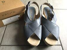 Unisa Ladies Wedge Blue Slingback Shoes / Sandals Size 39 / 6 BNWB RRP £89.99