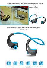 Bluetooth Earphones Stereo Headset Sport headphone Wireless for iphone SAMSUNG