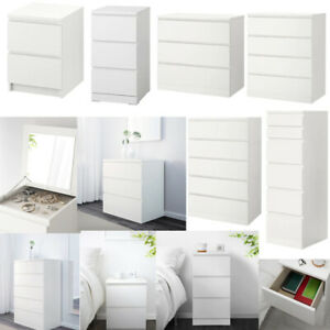Chest Of 2 3 4 6 Drawers, Bed Side , Dressing Table, Desk, Home Drawer - WHITE