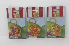 Candy Crush Keychain Pack Of 3-Purple, Orange, White
