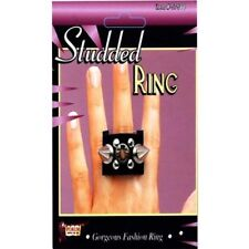 Spike Studded Stud Ring Goth Biker Punk Costume Accessory