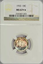 1953 Roosevelt Dime/ NGC-MS67+ */ Star/ Toned-Toning/ Coin#1037005419