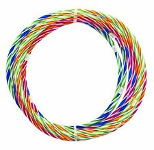 5 x75cm MULTICOLOUR CHILDREN ADULT HULA HOOP DURABLE PLASTIC INDOOR OUTDOOR PP