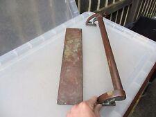 "Antique Bronze Door Handle Set Shop Pull Finger Plate Vintage Edwardian Deco 17"""