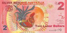 Australia 2 Lunar Dollars 1.1.2017 Series Ag Uncirculated Banknote A23M