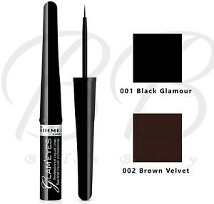 Rimmel Glam'Eyes Professional Liquid Eyeliner UltraFine Tip 3.5ml *CHOOSE SHADE*