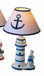 Tischleuchte Leuchtturm Anker Tischlampe Leselampe Deko-Leuchte ø 20 cm
