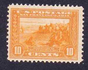 US.#400 10c vivid orange yellow San Francisco Bay Huge margins 1913 OGLH VF