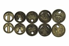 Norse Foundry RPG D20 Adventure Coins Variety Gold Piece Set of 10 - Dwarven