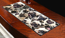 PUG DOG DESIGN BAR RUNNER IDEAL FOR ANY OCCASION PUBS CLUBS SHOPS L&S PRINTS