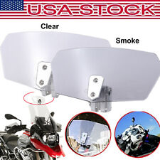 NEW Universal Motorcycle Wind Screen Deflector Windshield Windscreen Extension