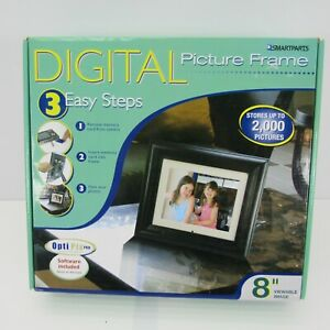 """New Smartparts 8"""" Digital Picture Frame 2000 Pictures SP800B"""
