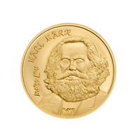 GOLD COIN KARL MARX GOLDMÜNZE 0.5 g 9999 AU PROOF 2019 | LE GRAND MINT-SHOP