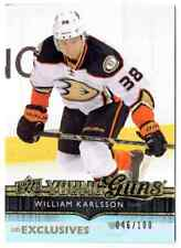 2014-15 UD EXCLUSIVES YOUNG GUNS WILLIAM KARLSSON ROOKIE 046/100 ANAHEIM DUCKS