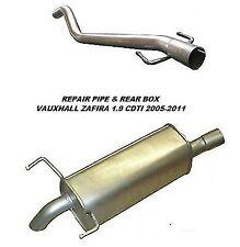 VAUXHALL Zafira 1.9 CDTI (05-11) Scarico posteriore BOX & DPF Tubo di riparazione