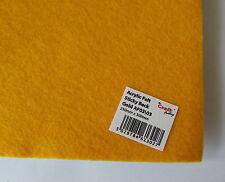 Adhesivo Por Detrás Fieltro Acrílico 23 x 30 cm Dorado