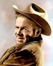 "DAN DURYEA NIGHT PASSAGE 1957 HOLLYWOOD ACTOR 8x10"" HAND COLOR TINTED PHOTOGRAPH"