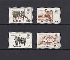 YOUTH YEAR - Tanzania   -1986 set of 4 -(SC 290-3) - MNH-A006