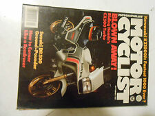 SEPTEMBER 1981 MOTORCYCLIST MAGAZINE,HONDA CX500,SUZUKI DR500,HOW TO CORNER,AMA