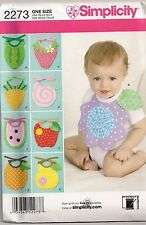 Simplicity Baby Bibs Sewing Pattern 2273