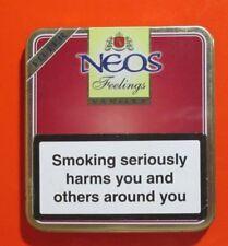 Neos Mini 10 Cigars Feelings Filter Belgium Tin Metal Box Empty