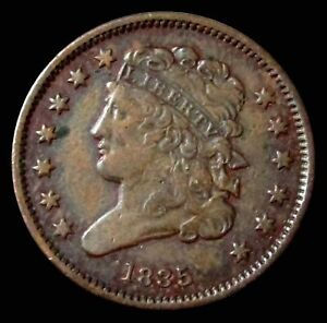 1835 UNITED STATES HALF CENT CLASSIC HEAD COIN CONDITION ABOUT UNCIRCULATED+