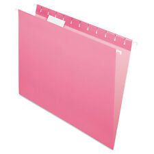 Pendaflex Essentials Colored Hanging Folders 1/5 Tab Letter Pink 25/Box 81609