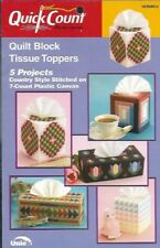 Quilt Block Tissue Covers in Plastic Canvas 5 Projects Quick Count Uniek