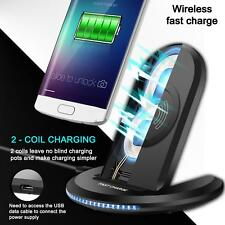 Fast Qi Wireless Charger Charging Pad Stand Dock for Galaxy Note 8/S8 S8 Plus