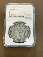 1879CC US Morgan Silver Dollar $1 Coin NGC Graded F12