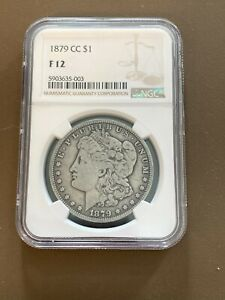 1879CC US Morgan Silver Dollar $1 Coin NGC Graded F12