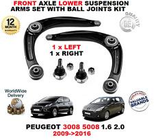 Para Peugeot 3008 5008 1.6 2.0 2009 > frontal inferior brazos de suspensión + Kit conjunta bola
