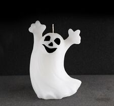 Halloween Spooky White Ghost Smile 4.5'' Candle Holiday Decor Haunted House Wax