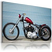 HARLEY DAVIDSON  MOTOR BIKE RED BLACK Wall Canvas Picture ART HD19 MATAGA