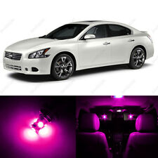 12 x Pink/Purple LED Interior Light Package For 2009 - 2013 Nissan Maxima