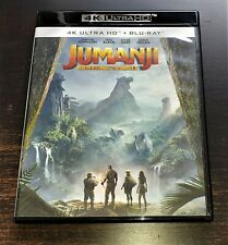 JUMANJI BIENVENUE DANS LA JUNGLE THE ROCK JACK BLACK BLURAY 4K + 2D COMME NEUF!