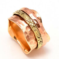 Solid Copper Band Brass Meditation Ring Spinner Ring Handmade Jewelry sr5542