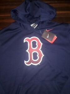 Nike MLB Boston Red Sox Hoodie Pullover Sweater Navy Blue Redsox  Men's XL