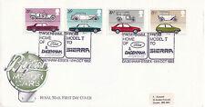 13 OCTOBER 1982 BRITISH MOTOR CARS ROYAL MAIL FIRST DAY COVER FORD DAGENHAM SHS