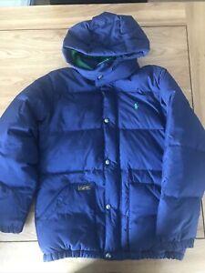 ralph lauren boys navy puffer coat Size M 10-12