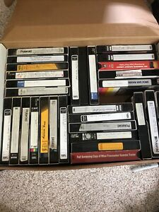 """36 Used VHS Tapes """"Sold As Blank"""""""