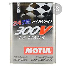 Motul 300V Le Mans 20W-60 Racing Engine Oil - 3 x 2 Litres 6L