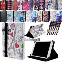 "For Various 7"" 8"" 10"" Argos Bush Tablet -Smart Stand Leather Cover Case + Stylus"