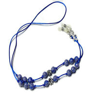 Reading eye glasses cord, spectacle chain holder lanyard beaded colour choice