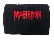Mastodon Embroidered Red Logo Black Terry Cloth Wrist Sweat Band New Official