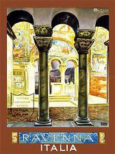 VINTAGE TRAVEL ITALIA RAVENNA ROMAN ITALY ART POSTER PRINT LV5008