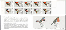 Norway 800-801a Booklet, MNH. Birds. Blue-throat, Robin, 1982